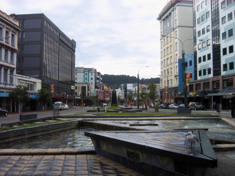 Uno scorcio di downtown Wellington