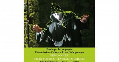 ERMO COLLE PALIO POETICO TEATRALE MUSICALE XVI EDIZIONE 1 – 13 Agosto 2017.  Bando di partecipazione 2017