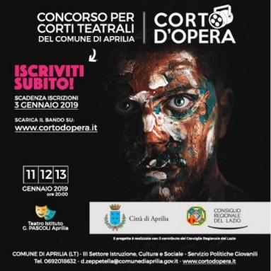 CONCORSO PER CORTI TEATRALI - CITTA' DI APRILIA (LT) - BANDO DI PARTECIPAZIONE