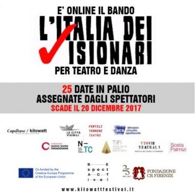 Associazione culturale CapoTrave / Kilowatt - bando di partecipazione per la terza edizione del bando L'ITALIA DEI VISIONARI 2018