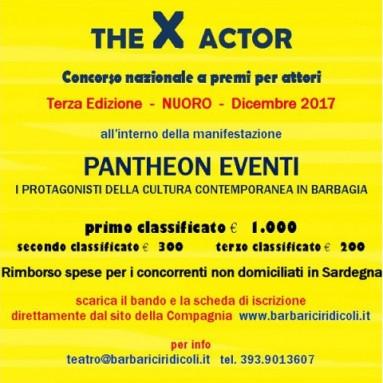 THE X ACTOR - La Compagnia I Barbariciridicoli rilancia il Concorso nazionale per attori