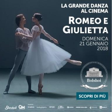 """Arriva sul grande schermo il dramma shakespeariano """"Romeo e Giulietta"""" firmato da Alexei Ratmansky, dal Bolshoi di Mosca - Domenica 21 gennaio ore 16.00"""