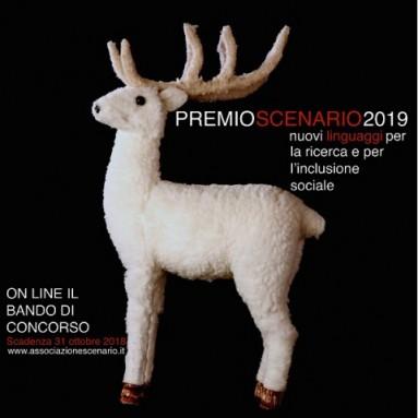 È on line il bando di concorso del PREMIO SCENARIO 2019 - nuovi linguaggi per la ricerca e per l'inclusione sociale. Scadenza 31 ottobre 2018