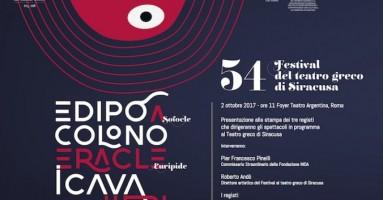 """54° Festival al TEATRO GRECO DI SIRACUSA, tre spettacoli - """"Eracle"""" di Euripide, """"Edipo a Colono"""" di Sofocle e """"I Cavalieri"""" di Aristofane"""