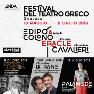 54° FESTIVAL DEL TEATRO GRECO DI SIRACUSA: Sei produzioni, due serate uniche, imperdibili, e il ritorno delle 'Rane' di Aristofane