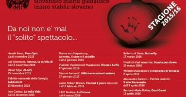 TEATRO STABILE SLOVENO : Stagione 2015_2016