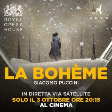 """""""LA BOHÈME"""" - Dal palcoscenico della Royal Opera House in diretta via satellite nei cinema italiani: Martedì 3 ottobre alle ore 20.15"""