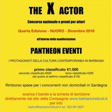 THE X ACTOR - La Compagnia I Barbariciridicoli lancia la IV edizione del Concorso nazionale per attori
