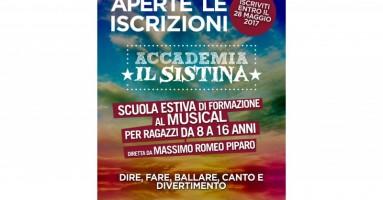 Riaprono le porte dell'Accademia Il Sistina - Diretta da Massimo Romeo Piparo, chiusura iscrizioni 28 maggio