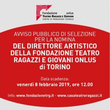 AVVISO DI SELEZIONE - Un nuovo Direttore Artistico per la Fondazione Teatro Ragazzi  e Giovani Onlus e per la Casa del Teatro di Torino