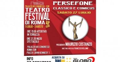 Teatro Festival LE TERRAZZE 2019. Serata speciale PREMIO PERSEFONE 2019 Classicus e Comicus -di Pierluigi Pietricola