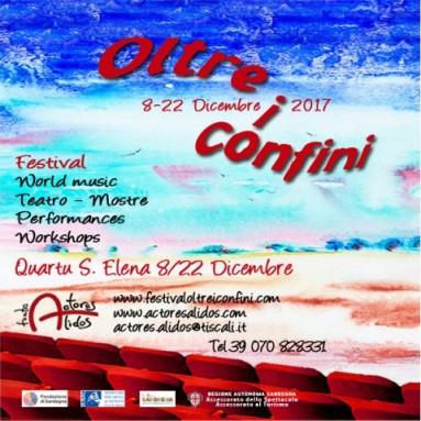 """FESTIVAL """"OLTRE I CONFINI"""" DALL'8 AL 22 DICEMBRE – QUARTU S.E. (CAGLIARI)"""