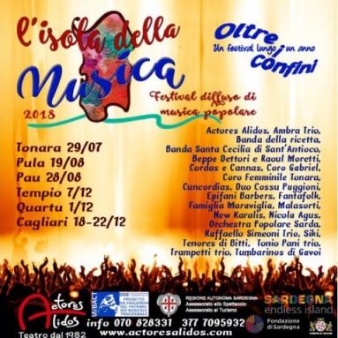 L'ISOLA DELLA MUSICA 2018 - Festival diffusa di musica popolare