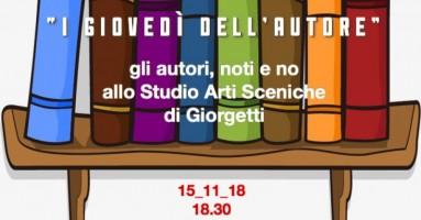 """""""I GIOVEDÌ DELL'AUTORE"""" - 15 Novembre ore 18.15 presso lo Studio Arti Sceniche di via Garigliano 8, zona Isola, MILANO"""