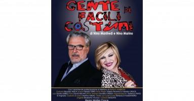 """Nadia Rinaldi e Walter Croce in """"Gente di facili costumi"""" di Nino Manfredi e Nino Marino - Teatro Tirso de Molina, ROMA, dall'8 al 26 marzo 2017"""