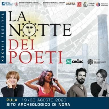Al via il XXXVIII FESTIVAL LA NOTTE DEI POETI del CeDAC – dal 19 al 30 agosto nell'area archeologica di Nora (Pula) in Sardegna
