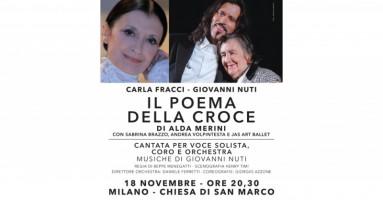 """18 NOVEMBRE 2019 (MILANO) - In occasione del Decennale Alda Merini 2009-2019 Carla FRACCI e Giovanni NUTI nel """"POEMA DELLA CROCE"""" di Alda MERINI"""