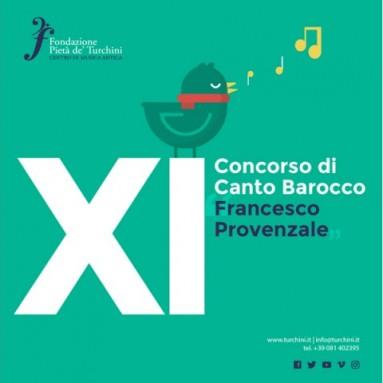 """XI° CONCORSO INTERNAZIONALE di CANTO BAROCCO """"FRANCESCO PROVENZALE"""", 27 – 29 settembre 2019"""